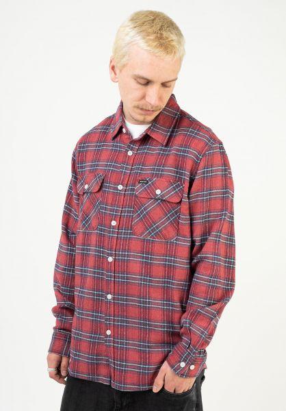 Brixton Hemden langarm Bowery X Flannel cowhide vorderansicht 0412128