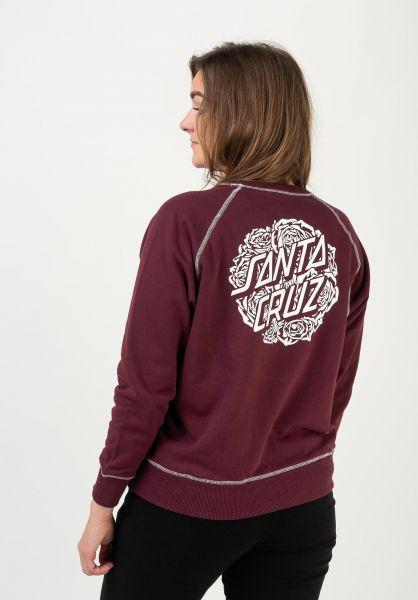 Santa-Cruz Sweatshirts und Pullover Bouquet Dot Mono port vorderansicht 0422978