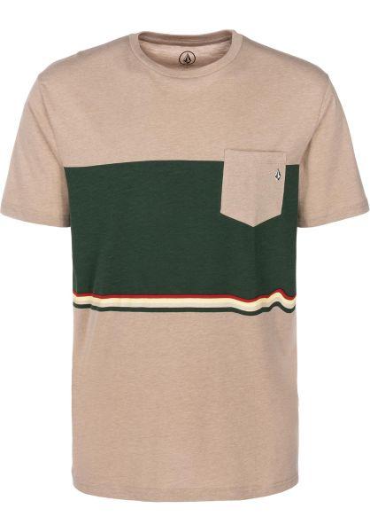 Volcom T-Shirts 3 Quarter oatmeal vorderansicht 0399846