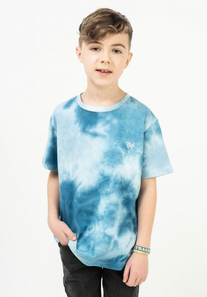TITUS T-Shirts Aitor Kids blue-batik vorderansicht 0322724