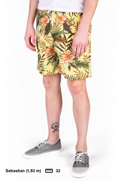 TITUS Chinoshorts Tropical AO yellow-pattern vorderansicht 0551917