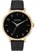 Nixon Uhren Arrow Leather gold-black Vorderansicht