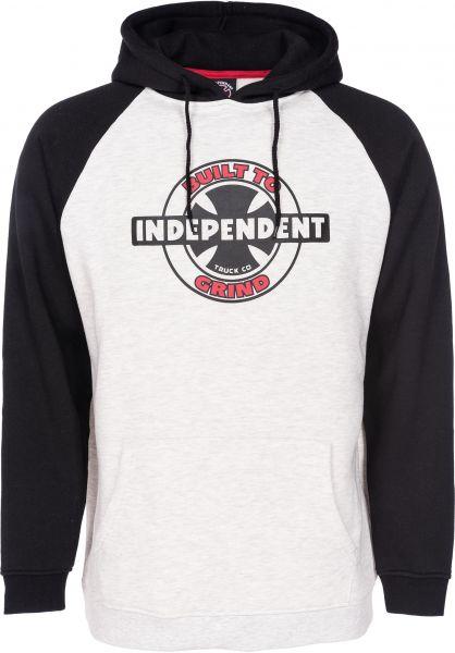 Independent Hoodies 95 BTG Raglan black-athleticheather Vorderansicht