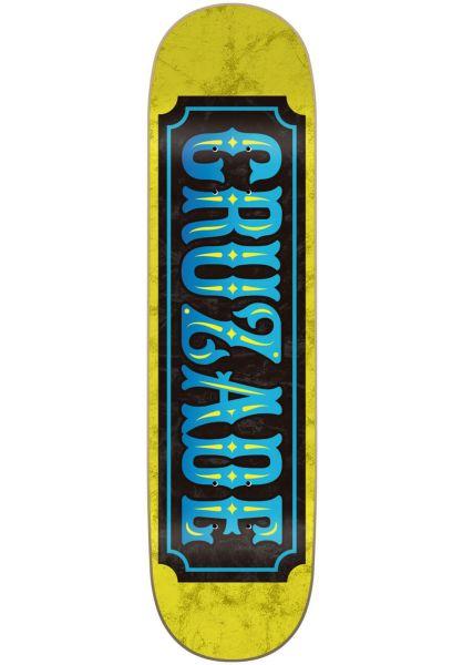 Cruzade Skateboard Decks Stamp Double Tail yellow vorderansicht 0265372