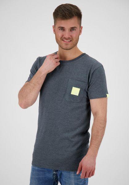 alife and kickin T-Shirts Logo Pocket marine 121 vorderansicht 0322162