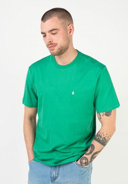 Volcom T-Shirts Stone Blanks synergygreen vorderansicht 0321558