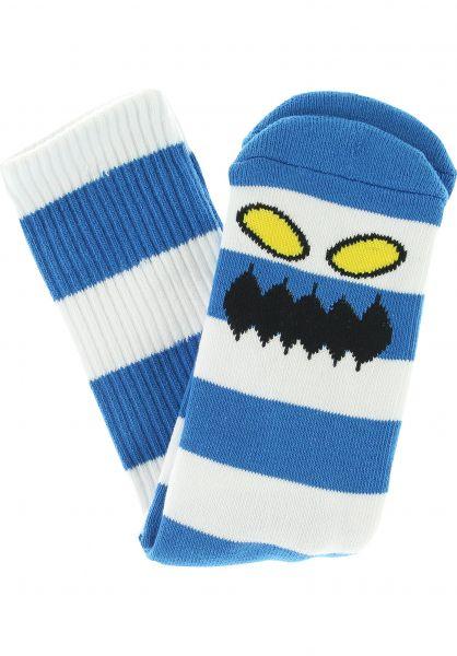 Toy-Machine Socken Monster Big Stripe royalblue vorderansicht 0631603