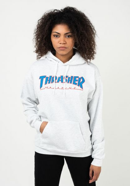 Thrasher Hoodies Outlined UNISEX ashgrey vorderansicht 0446205