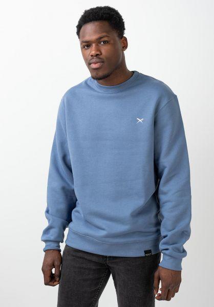 iriedaily Sweatshirts und Pullover Mini Flag Crew dustyblue vorderansicht 0422871