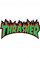 Thrasher-Verschiedenes-Flame-Sticker-Medium-rasta-Vorderansicht