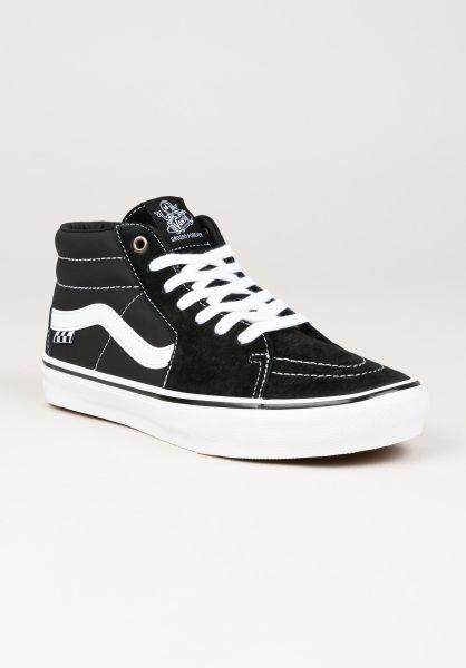 Vans Alle Schuhe Skate Grosso Mid black-white-emoleather vorderansicht 0604966