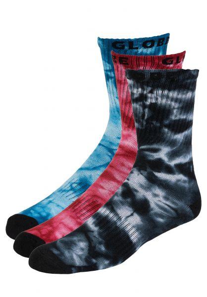 Globe Socken All Tied Up Sock 3 Pack assorted vorderansicht 0632259