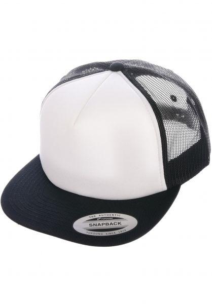 Flexfit Caps Foam Trucker Flat black-white-black vorderansicht 0566386
