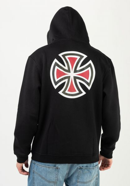 Independent Hoodies Bar Cross black vorderansicht 0444333