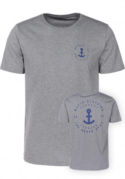 Makia T-Shirts Shank grey Vorderansicht