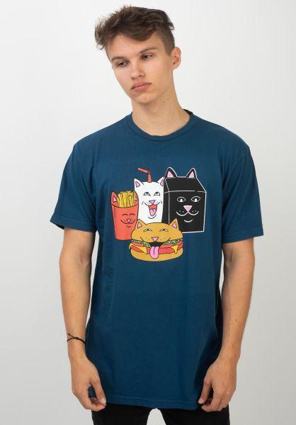 Rip N Dip T-Shirts Mc Nerm harborblue vorderansicht 0320220
