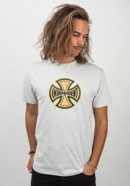 Independent T-Shirts Coil athleticheather vorderansicht 0320444