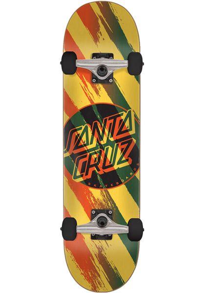 Santa-Cruz Skateboard komplett Brush Dot yellow vorderansicht 0162024