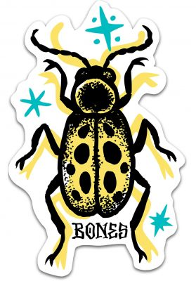Bones Wheels Earth Rollers Bug Sticker