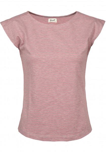 Forvert T-Shirts Charleston grey-red Vorderansicht