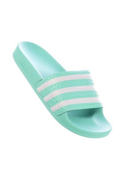 adidas Alle Schuhe Adilette clearmint-clearmint-white vorderansicht 0612277