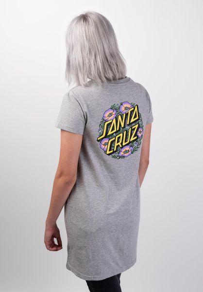 Santa-Cruz Kleider Poppy Dot heathergrey vorderansicht 0801428