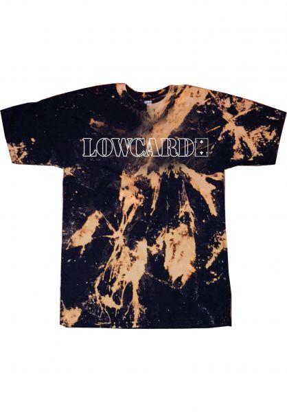 Lowcard T-Shirts Dosed Outline Tie Dye black vorderansicht 0323061