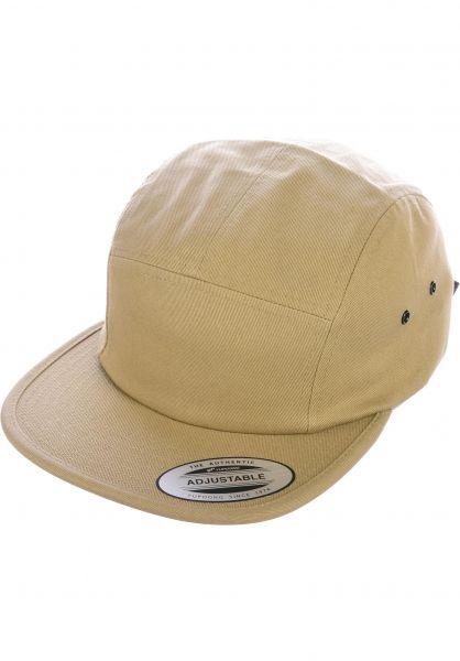 Flexfit Caps Jockey Cap khaki vorderansicht 0566390