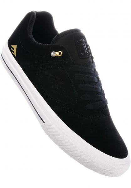 Emerica Alle Schuhe Reynolds 3 G6 Vulc black-white-gold Vorderansicht