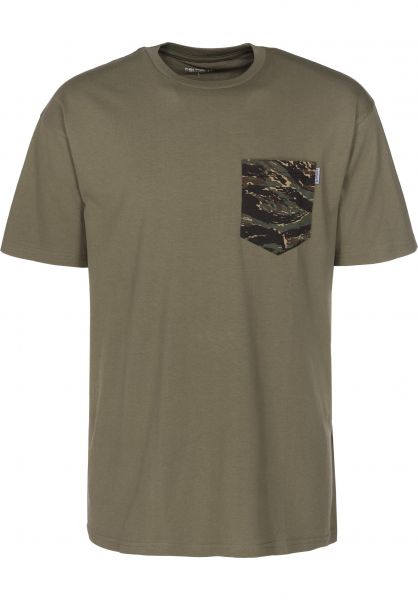Carhartt WIP T-Shirts Lester Pocket rovergreen-camotigerjungle Vorderansicht 0398752