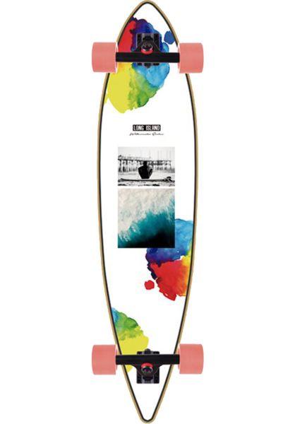 "Long Island Longboards komplett Watercolor 40"" multicolored vorderansicht 0194267"