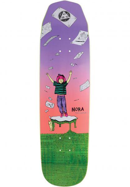 Welcome Skateboard Decks Nora Vasconcellos Magilda Wicked Quenn lavender-coral Vorderansicht