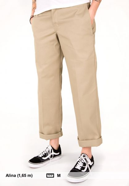 17bf207dd2d Slim Straight Work Dickies Chino pants in khaki for Women