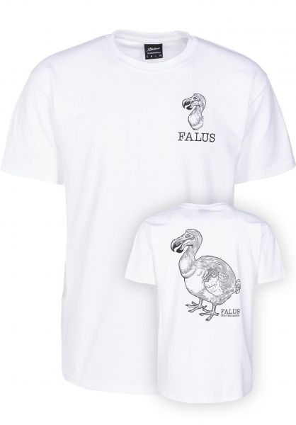 Falus T-Shirts Dodo Logo white vorderansicht 0320003