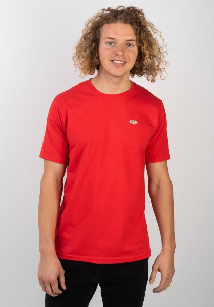 Dickies T-Shirts Stockdale fieryred vorderansicht 0397354