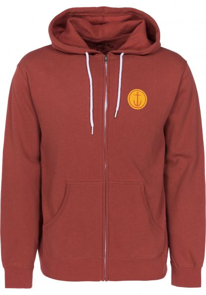 Captain Fin Zip-Hoodies Mini OG burntorange Vorderansicht