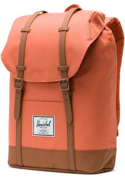 832a6887d4a1c Herschel Rucksäcke Retreat apricotbrandy-saddlebrown vorderansicht 0880560