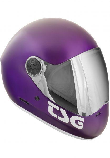 TSG Fullface-Helme Pass Solid Color satin purple Vorderansicht