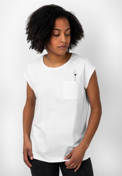 TITUS T-Shirts Grafik Pocket white vorderansicht 0397415