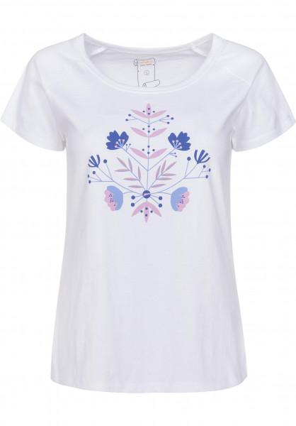 Rules T-Shirts Blume white Vorderansicht