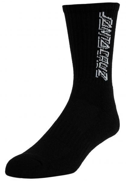 Santa-Cruz Socken Contra Strip black vorderansicht 0632242