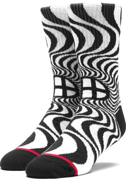 HUF Socken x Spitfire Swirl Socks black Vorderansicht 0631591