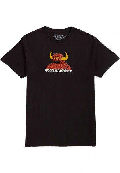 Toy-Machine T-Shirts Furry Monster black vorderansicht 0323281