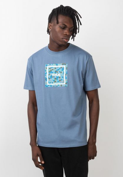 TITUS T-Shirts Typo Mosaik infinity vorderansicht 0399246