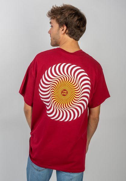 Spitfire T-Shirts Classic Swirl Fade cardinal vorderansicht 0383202