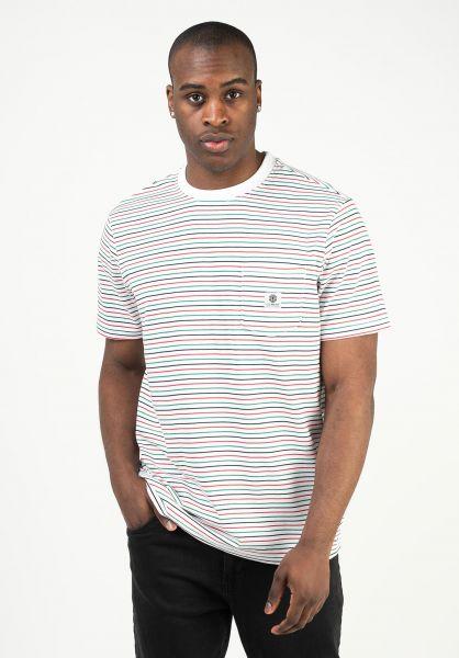 Element T-Shirts Basic Multi bonewhite vorderansicht 0323367