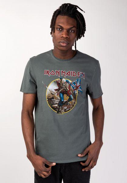 Amplified T-Shirts Iron Maiden Trooper greensimmons vorderansicht 0399946