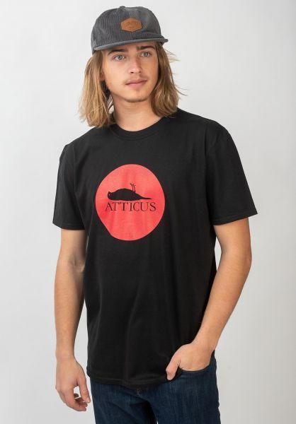Atticus T-Shirts Circle black vorderansicht 0362223