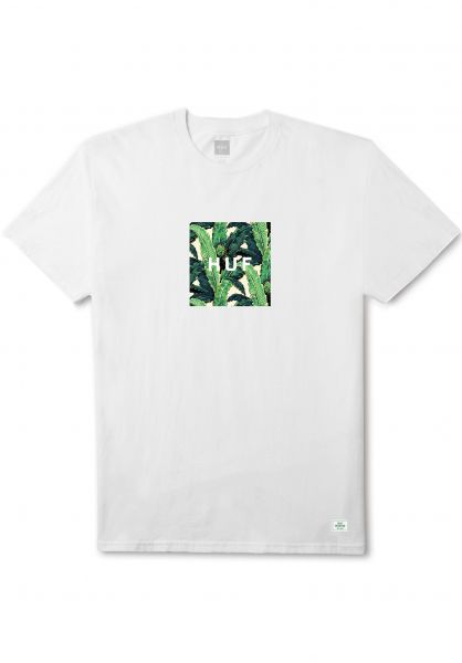 HUF T-Shirts Foliage Box white Vorderansicht