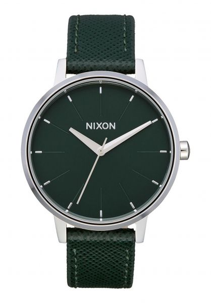 Nixon Uhren The Kensington Leather evergreen vorderansicht 0810140